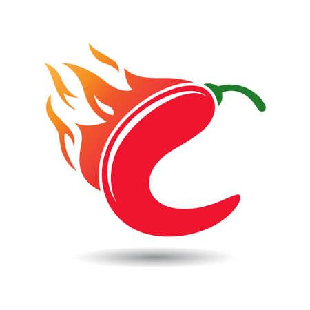Chili Letter C Template