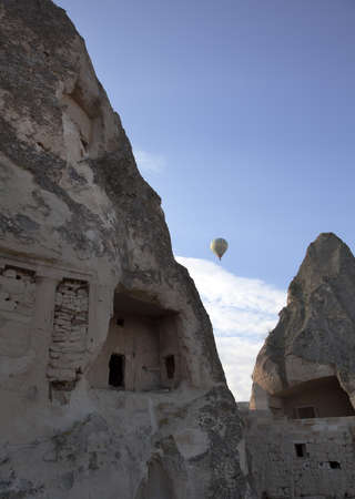 limetone home typical of the Cappadocia region in Turkey photo