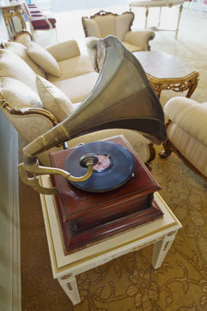 78 rpm: Bosphorus Palace, Istanbul, Turkey - July 1, 2011  Editorial, luxorius room setting and interior design retro styled in 1930s