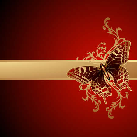 vector magic: Butterfly background Illustration
