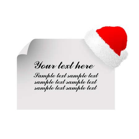fur cap: Greeting Card with Santa Cap