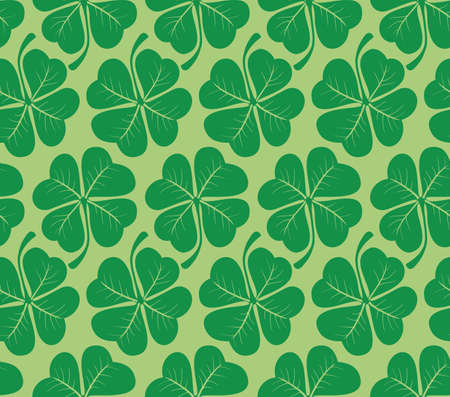 Vector. Seamless clover pattern Vector