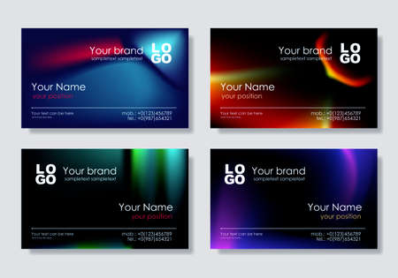 id card: Vector. Multicolor business card