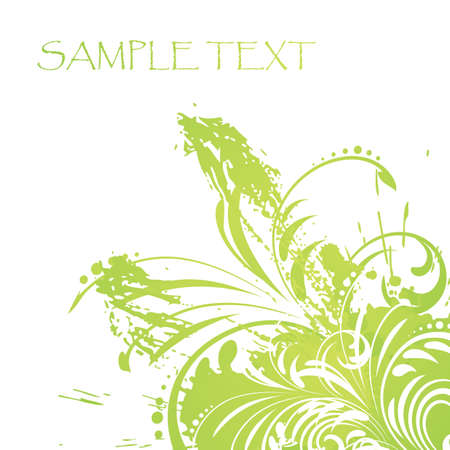 classicism: Vector. Green floral background Illustration
