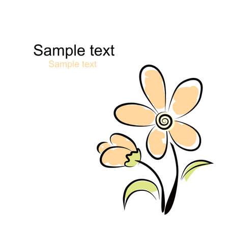 Vector. Flower background Stock Vector - 4907627