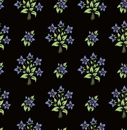 Vector. Seamless flower wallpaper Stock Vector - 4907635