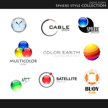 specter: Vector. Icons. Sphere style collection