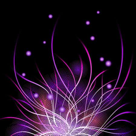 in shape: Floral Background Illustration