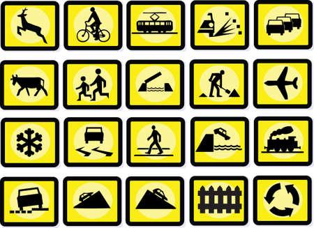 road works: Signs Illustration