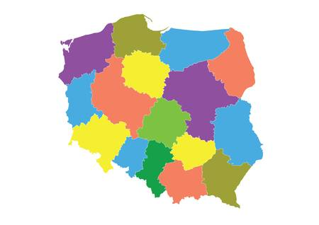 Detailed map of the Polish division of the province.