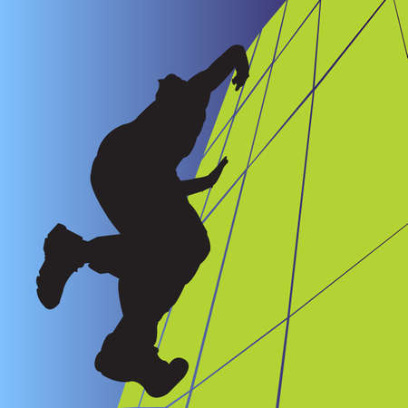 profiles of young men practicing an extreme sport
