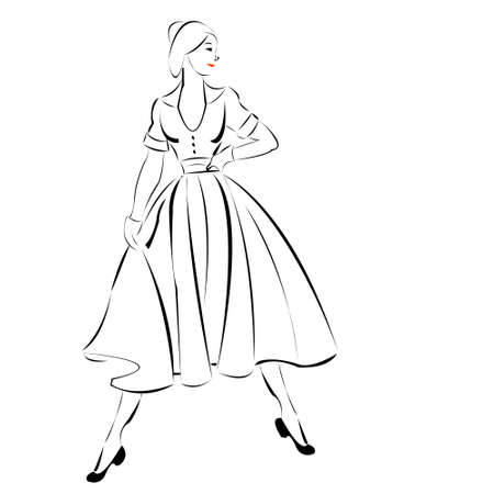 Girl in a dress Illustration