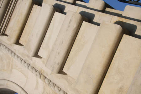 architectonic: Architectonic detail on blue sky  Stockfoto