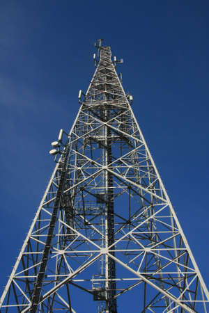 Steel tower with different telecommunications  photo
