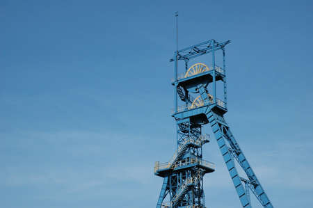Coal mine  Tower on blue sky