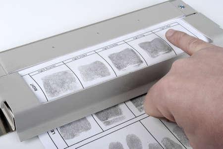 evidence bag: Fingerprint card Stock Photo