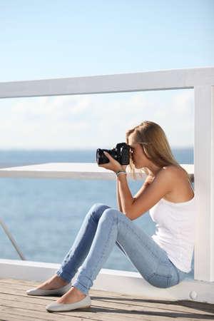 fotós lány