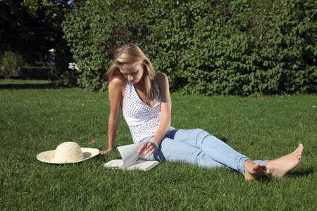 19's: girl in park
