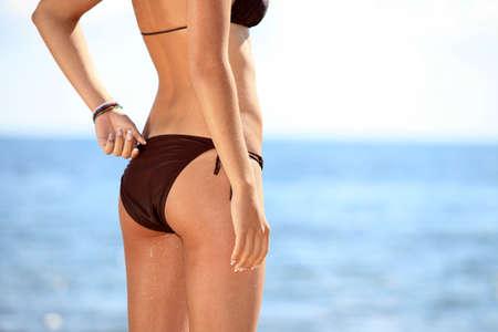 bikini butt: Bikini bottom model Stock Photo