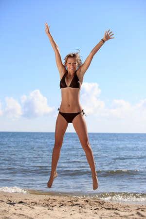 bikini bottom: Bikini modelo ascendente Foto de archivo