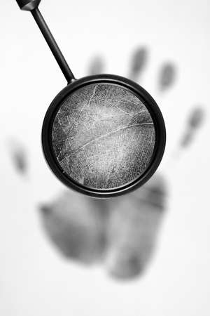 Fingerprint on white background  photo
