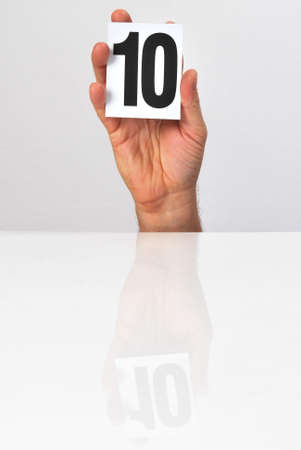 10 fingers: number of points in the hands of the evaluation