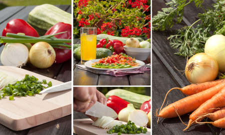 Dish of several vegetables Stock Photo