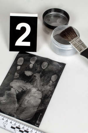 Disclosure of forensic evidence using fingerprint powders. photo