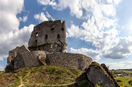 mirow: The ruins of a medieval castle Mirow. Stock Photo