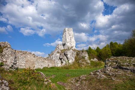jura: Jurassic limestone rocks - Polish Jura. Polish landscape.