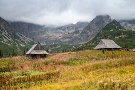 wooden hut: Old wooden hut in the Tatra Mountains, Poland.