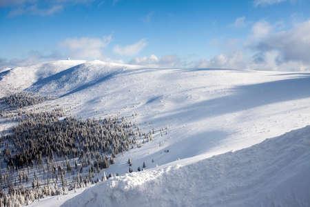 Winter landscape. Giant Mountains - Krkonose, Poland, Europe.