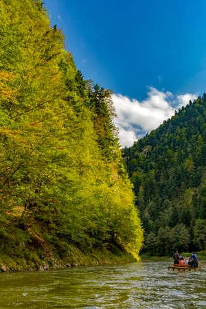 The turn of the river Dunajec in Pieniny, Poland and Slovakia