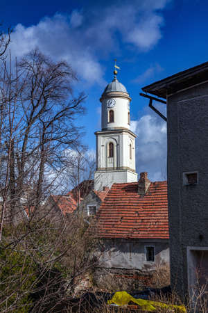 BOLKOW, POLAND, FEBRUARY 26,2012: The Roman Catholic church of St. Hedwig dating back to the 13th century.