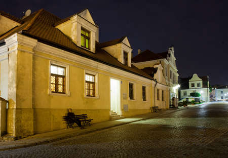 SANDOMIERZ, POLAND - OCTOBER 5, 2015: Historic streets in the old town.