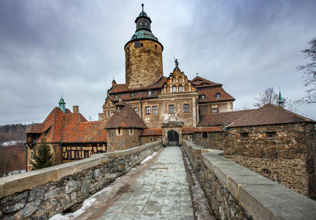CZOCHA, POLAND, FEBRUARY 22, 2012: Medieval castle built in XII century.
