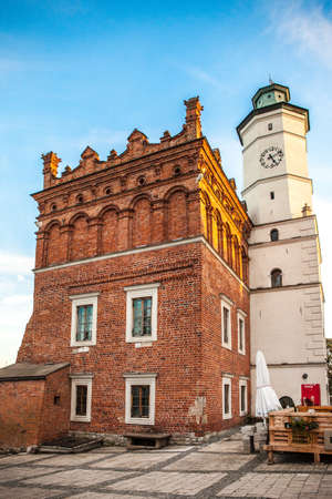 SANDOMIERZ, POLAND - OCTOBER 9, 2015: The old town hall and main square in Sandomierz.