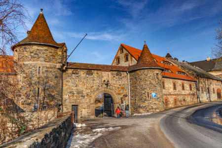 CZOCHA, POLAND, FEBRUARY 22, 2012: Medieval castle built in the 12th century. Editorial