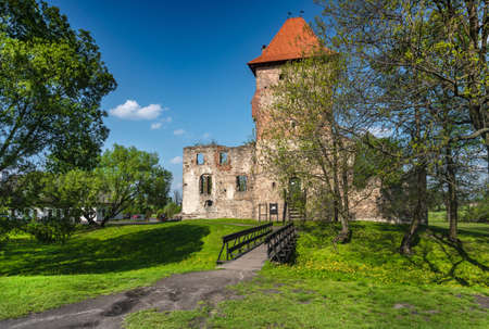 CHUDOW, POLAND - MAY 02, 2019: Ruins of the Renaissance castle in Chudow.