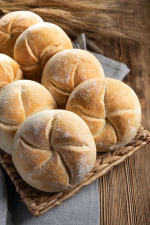 Fresh bread for breakfast. Selective focus.