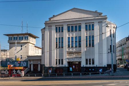 KATOWICE, POLAND - MARCH 03, 2021: Cinema theater RIALTO in Katowice.