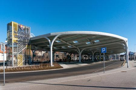 KATOWICE, Poland - MARCH 03, 2021: International Bus Station in Katowice. Editorial