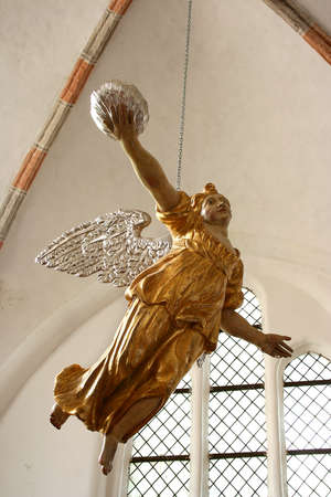 bernini: Angel Sculpture Stock Photo