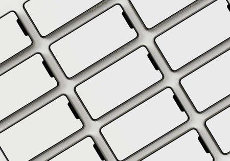 3d render illustration generic phone mock up in a white design high key