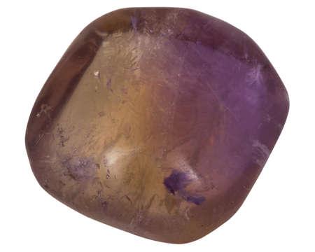 fluorite: purple fluorite macro isolated on white