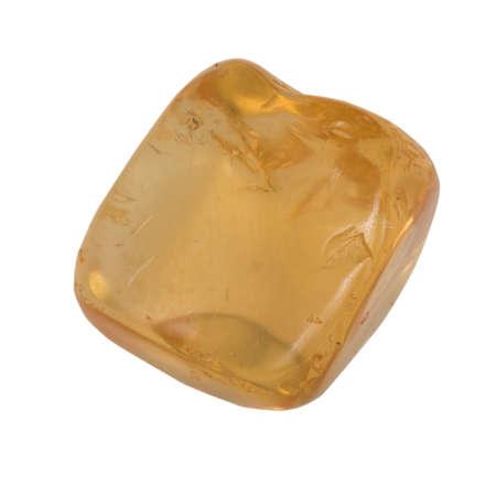 citrine: small citrine macro isolated on white Stock Photo