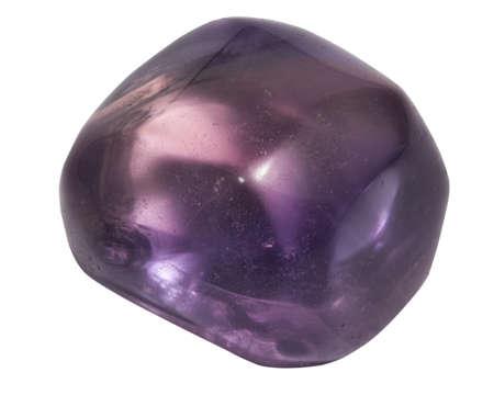 newage: purple fluorite macro isolated on white