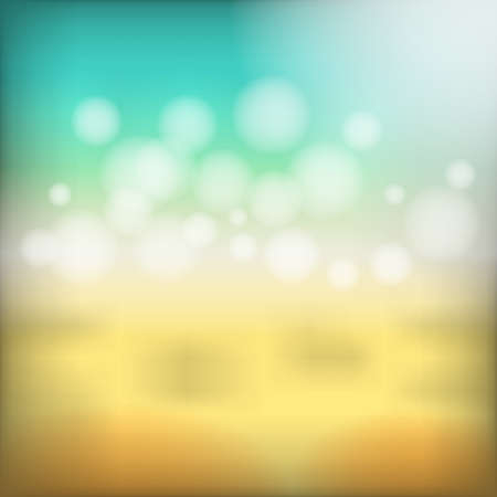 Abstract colorful beach bokeh background vector illustration.