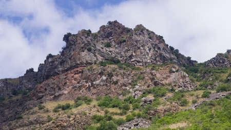 View of mountains landscape in Geghard, Armenia, selective focus. Standard-Bild - 112395181