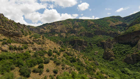 View of mountains landscape in Geghard, Armenia, selective focus. Standard-Bild - 112395185